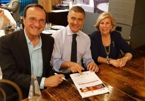 Giancarla Guareschi vice presidente società Dante Alighieri Australia e Fabio Carosone tesoriere