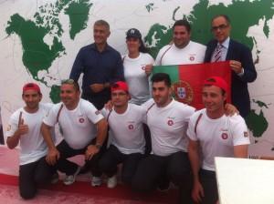 Alfonso Pecoraro Scanio con Antimo Caputo (Antimo Molino Caputo) e la delegazione Portoghese