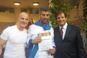 Fabio Cristiano (centro) e Ambasciatore Francesco Talò
