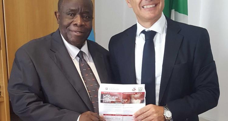 S.E. Albert Tshiseleka Felha + Alfonso Pecoraro Scanio